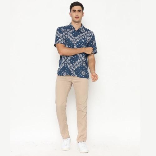 Alpha Batik Shirt Navy