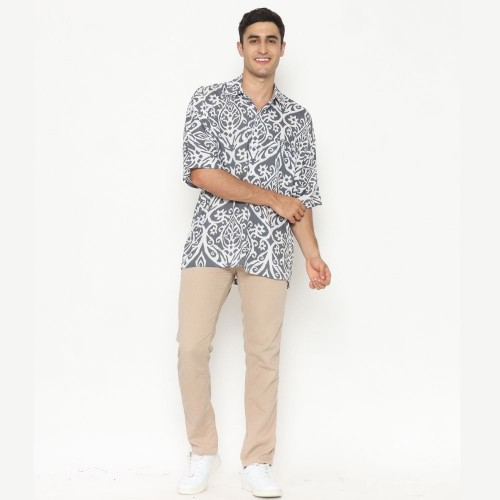 Alpha Casual Batik Shirt Cool Grey