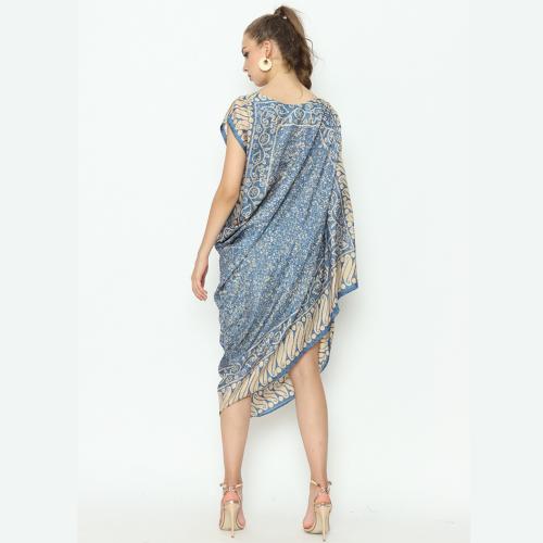 Dress Bombai Chantel Parang Mix Blue Champagne